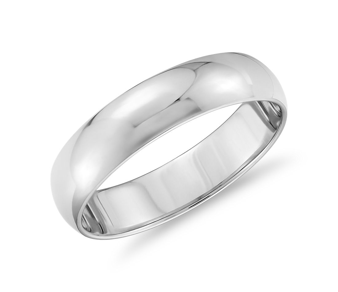 db981b40ebfb1 Classic Wedding Ring in 14k White Gold (5mm)