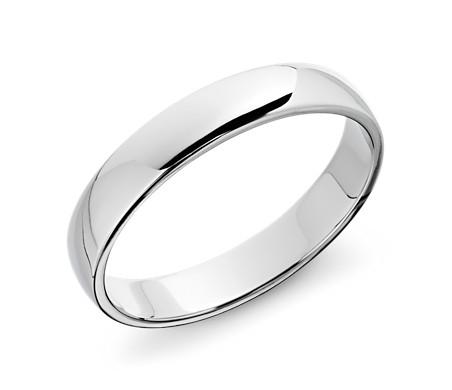Clic Wedding Ring In 14k White Gold 5mm