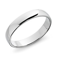 Clic Wedding Ring In 14k White Gold 4mm