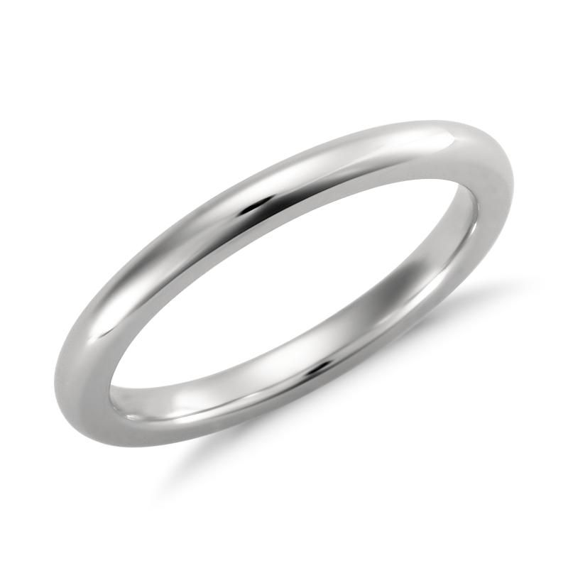 Comfort Fit Wedding Ring in Platinum (2mm)