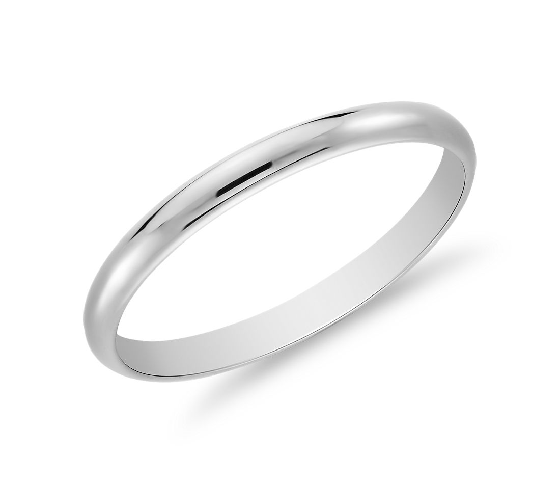 classic wedding ring in platinum 2mm - Wedding Band Rings