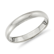 Classic Wedding Ring In 14k White Gold 3mm