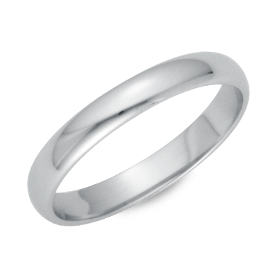 Classic Wedding Ring in Platinum 3mm Blue Nile