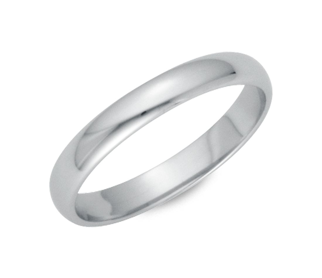 classic wedding ring in platinum (3mm) | blue nile