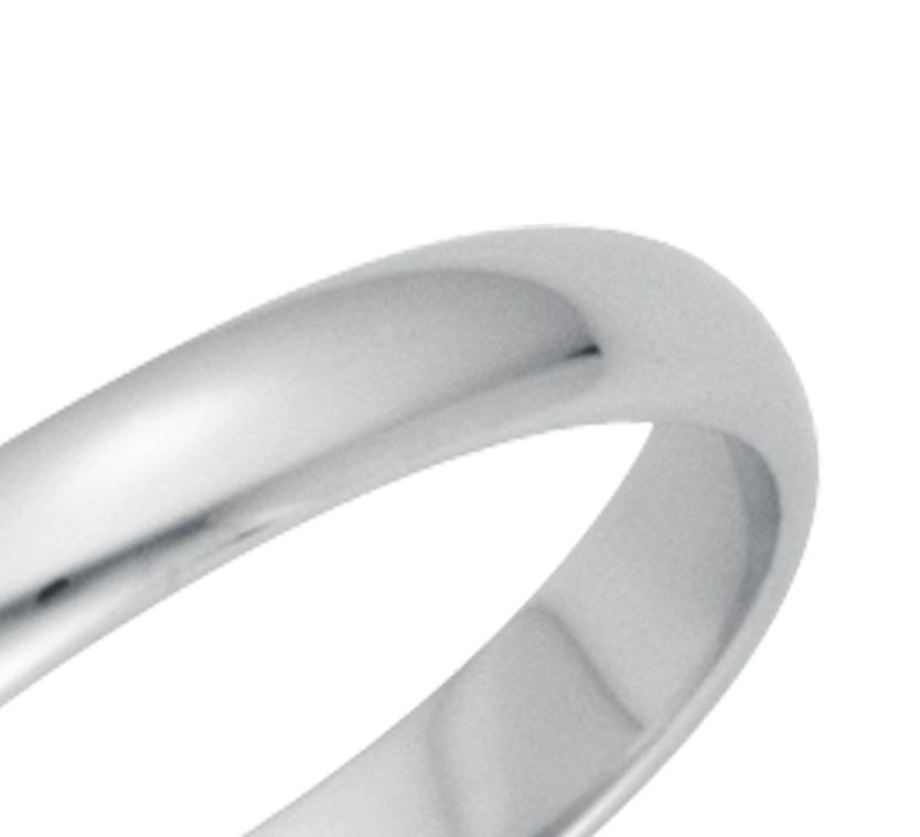 Alianza clásica en platino (3mm)
