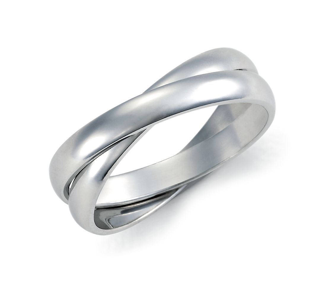 Double Rolling Wedding Ring In Platinum Blue Nile