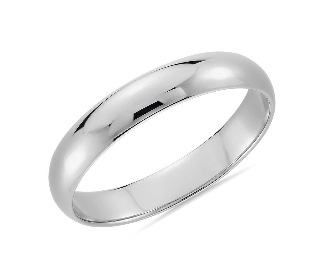 Classic Wedding Band in Platinum (4mm)