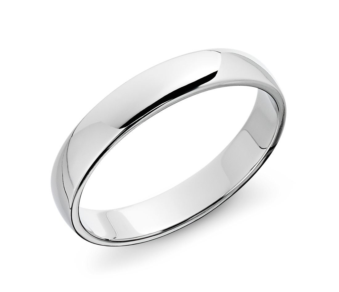 Classic Wedding Ring in Platinum (4mm)