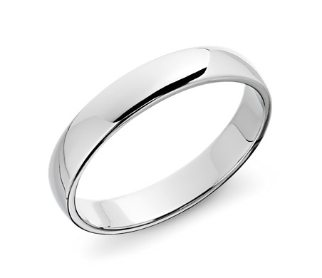 Clic Wedding Ring In Platinum 4mm