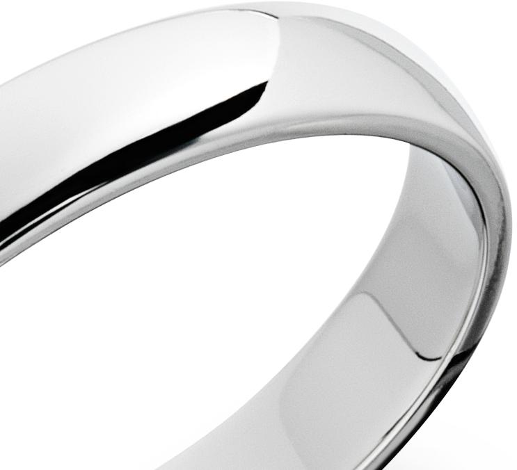 Classic Wedding Ring in Platinum (4mm)