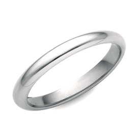 Alliance confort en or blanc 14 carats (2,5 mm)