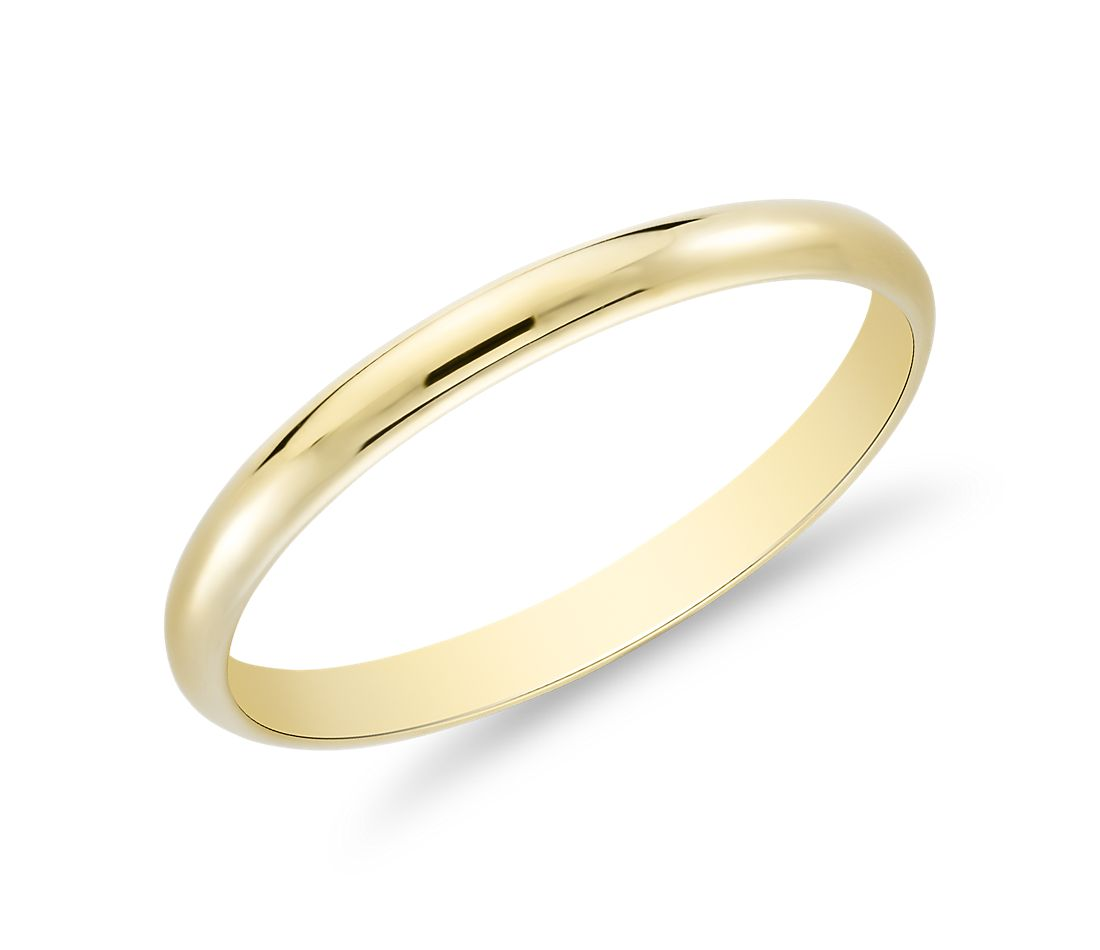 Classic Wedding Ring in 8k Yellow Gold (8mm)