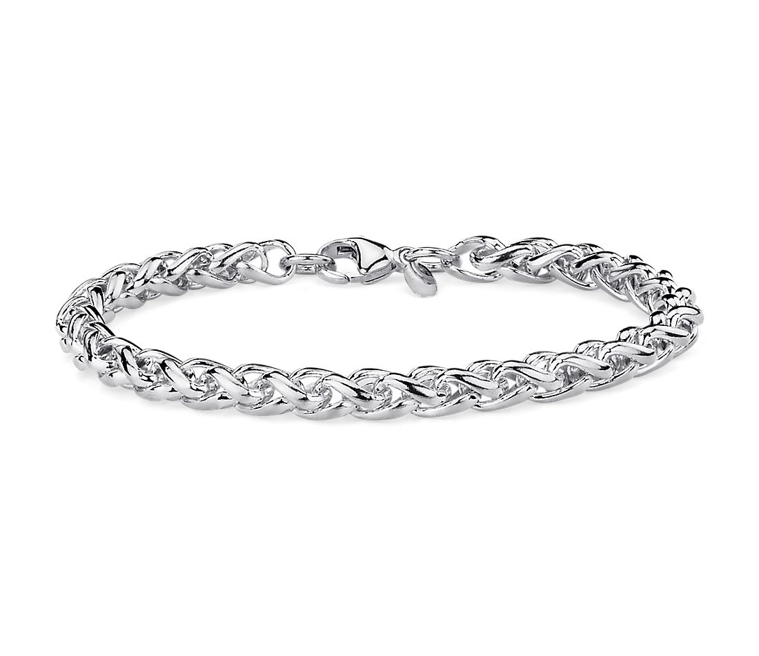 Wheat Bracelet in Sterling Silver