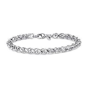 Wheat Bracelet in Sterling Silver
