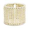 White Freshwater Cultured Pearl Cuff Bracelet