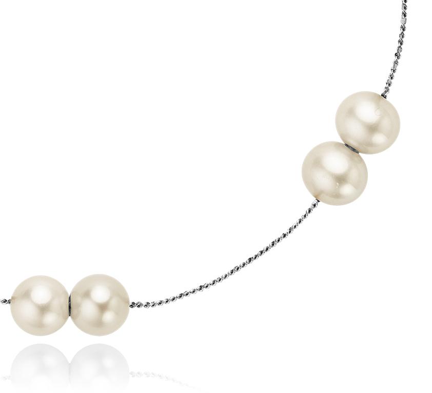 Collier de perles de culture d'eau douce avec argent sterling - 24