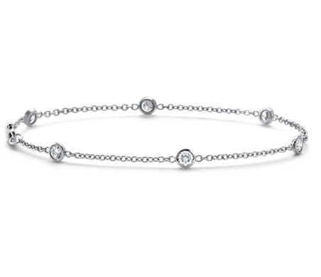 Bezel Set Diamond Bracelet In 18k White Gold 5 8 Ct Tw