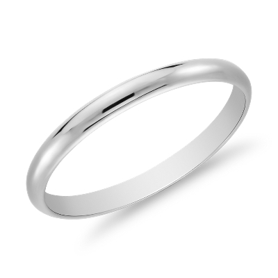 Classic Wedding Ring in 14k White Gold 2mm Blue Nile