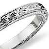 Hand-Engraved Wedding Ring in 14k White Gold