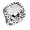 White Quartz Ring in Sterling Silver