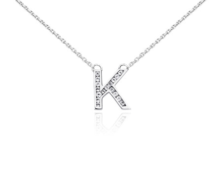 White topaz initial k pendant in sterling silver blue nile white topaz initial k pendant in sterling silver aloadofball Image collections