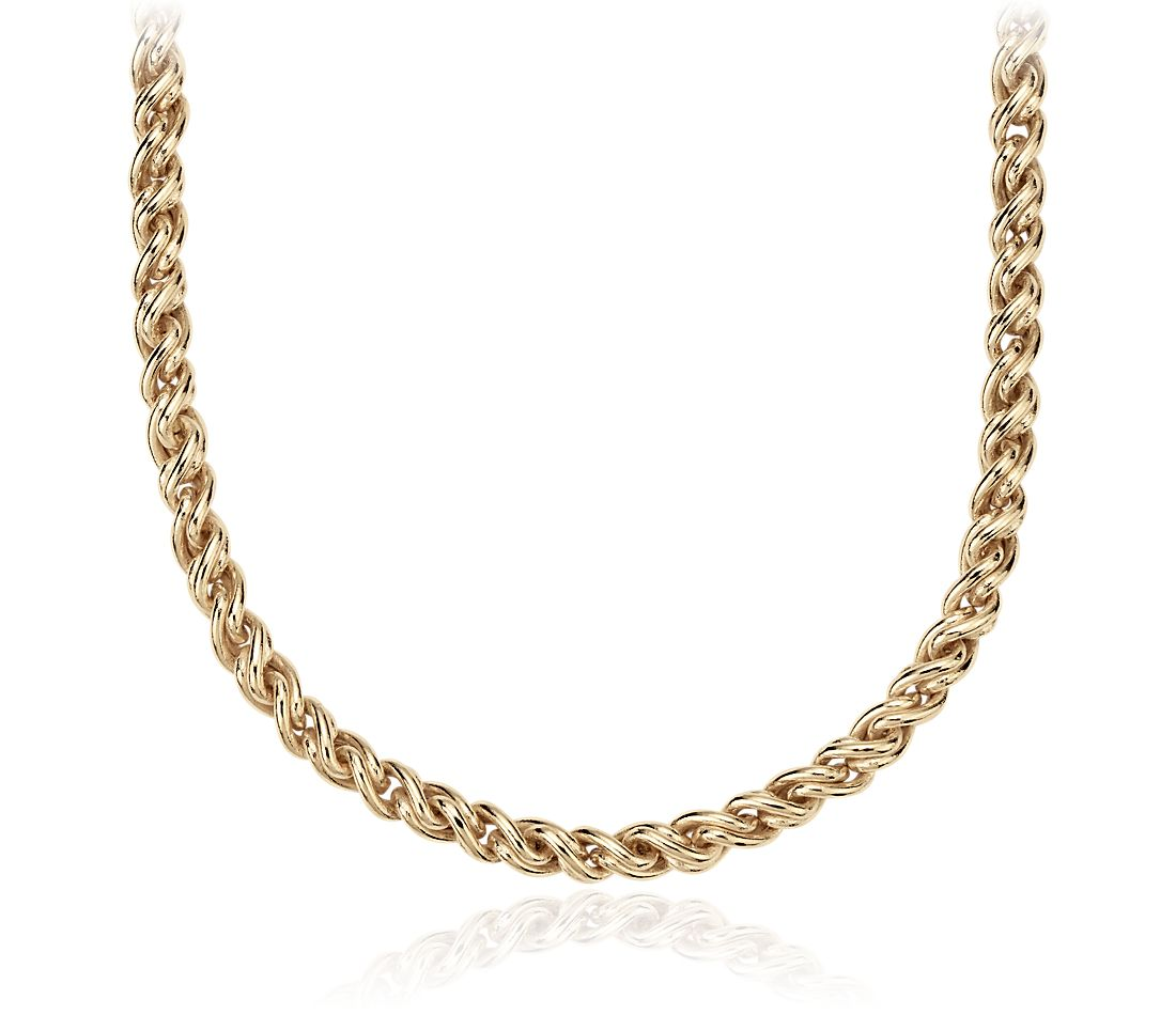 Woven Necklace in 14k Yellow Gold