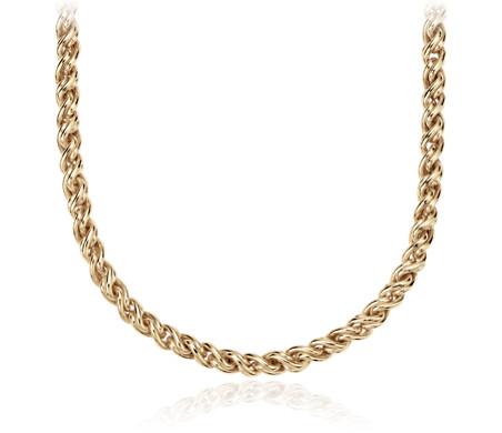 Blue Nile Petite Byzantine Necklace in 14k Italian Yellow Gold SXnPuk