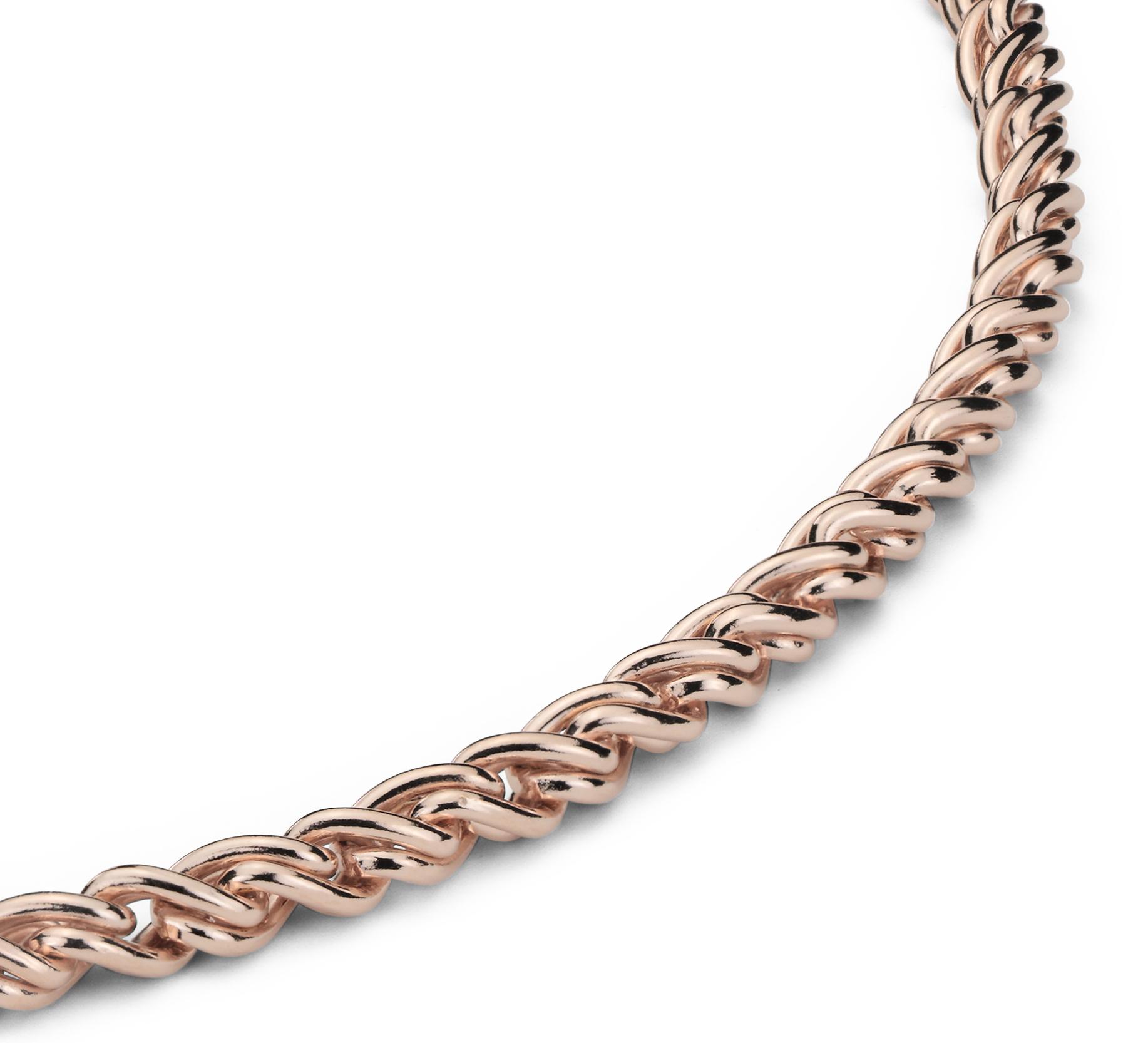 Collar entrelazado en plata bañada en oro rosado