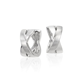 XO Huggie Hoop Earrings in Sterling Silver