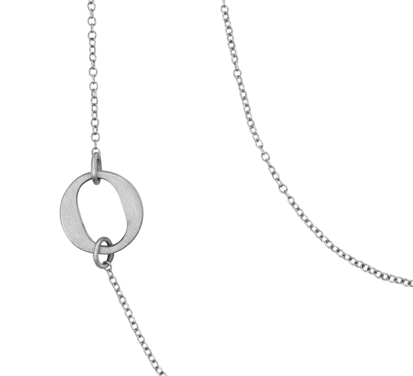 Collier XO Bree Richey en argent sterling satin