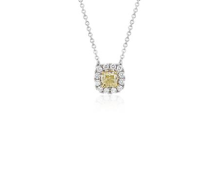 Yellow Diamond Drop Pendant in 14k White and Yellow Gold (3/4 ct. tw.)