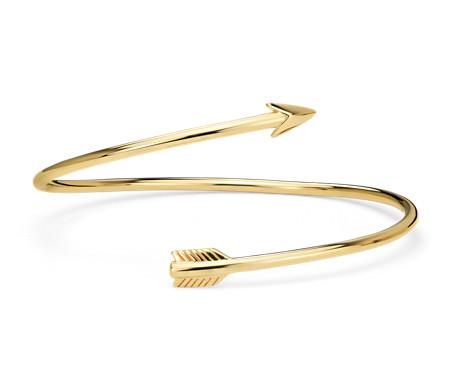 Arrow Bangle Bracelet in Yellow Gold Vermeil
