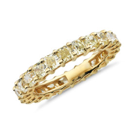 NEW Yellow Radiant-Cut Diamond Eternity Ring in 18k Yellow Gold (3 ct. tw.)