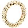 18k 黃金黃色雷地恩明亮式切割鑽石永恆戒指(3 克拉總重量)