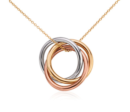 Infinity rings pendant in 14k tri colour gold blue nile infinity rings pendant in 14k tri colour gold aloadofball Choice Image