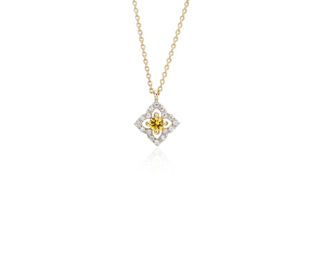Petite yellow sapphire floral pendant in 14k yellow gold 28mm petite yellow sapphire floral pendant in 14k yellow gold 28mm aloadofball Image collections