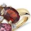 ZAC Zac Posen Amethyst, Garnet  and Pink Tourmaline Cluster Ring in 14k Yellow Gold (10x7mm)
