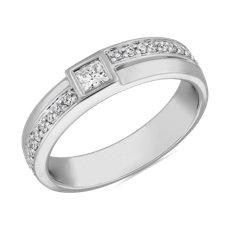 NEW ZAC Zac Posen Bezel Set Princess Cut Diamond Band in 14K White Gold (1/3 ct. tw.)