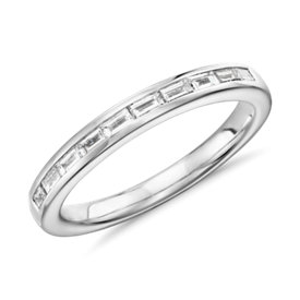 Truly Zac Posen Channel-Set Baguette Diamond Ring in Platinum (1/4 ct. tw.)