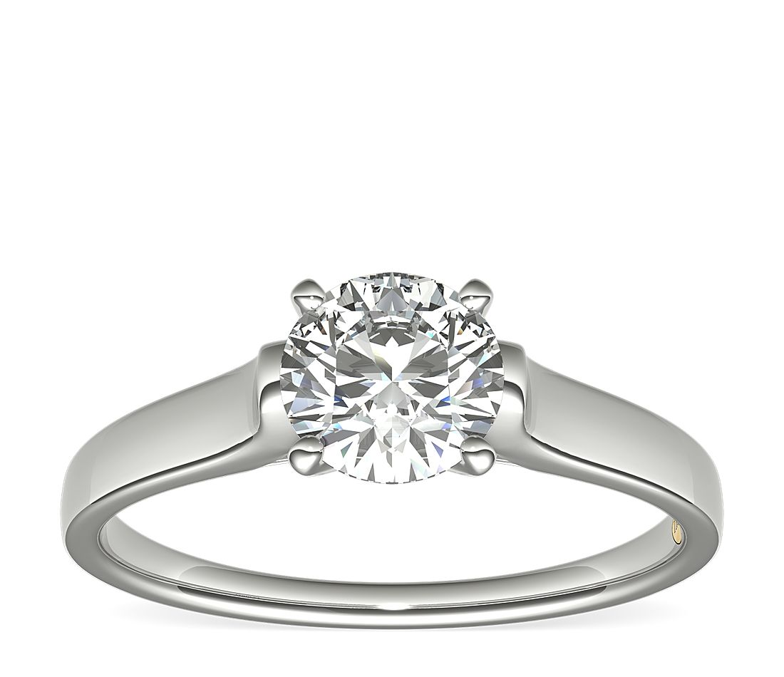 1 Carat Ready-to-Ship ZAC Zac Posen Cathedral Solitaire Plus Diamond Engagement Ring in Platinum