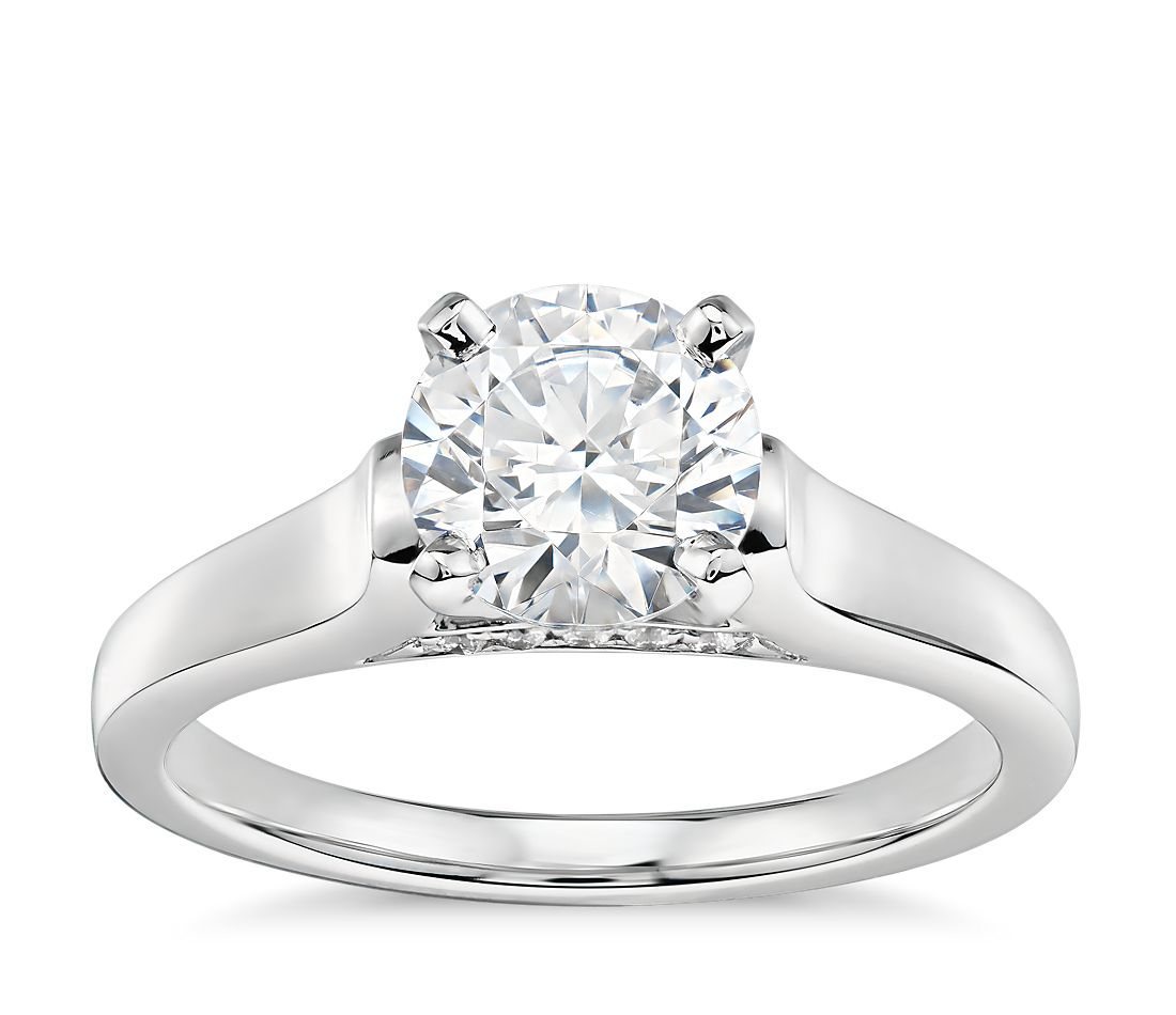 1 Carat Ready-to-Ship Truly Zac Posen Cathedral Solitaire Plus Diamond  Engagement Ring in Platinum  a1a5d16cbe