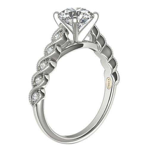 ZAC Zac Posen Milgrain Twist Diamond Engagement Ring