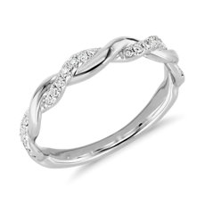 ZAC Zac Posen Twisting Diamond Ring in 14k White Gold (1/5 ct. tw.)