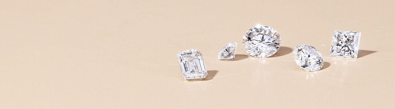 Gran surtido de diamantes sueltos