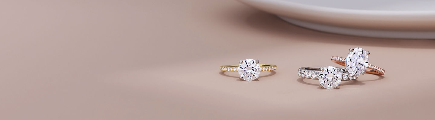 Assorted engagement rings