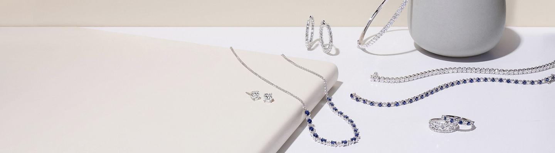 Assorted fine and diamond jewellery