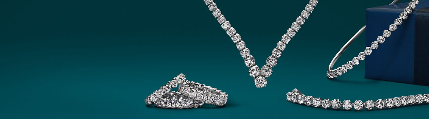 An assortment of diamond jewellery