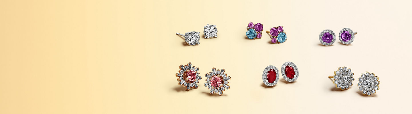 Assorted stud earrings