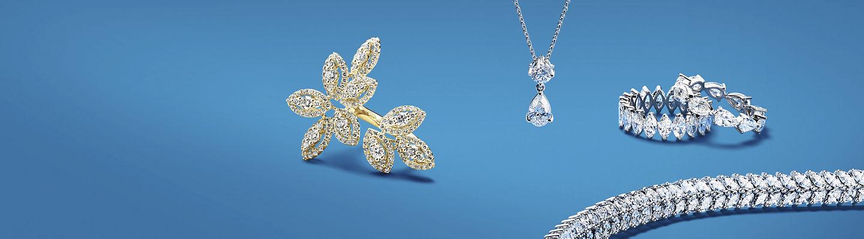 An assortment of diamond jewelry