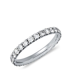 Diamond eternity ring in platinum.
